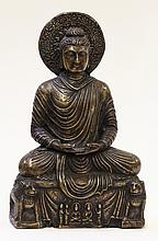 Indian Metal Seated Buddha