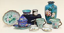 Group of Chinese/Japanese Enamel Ware