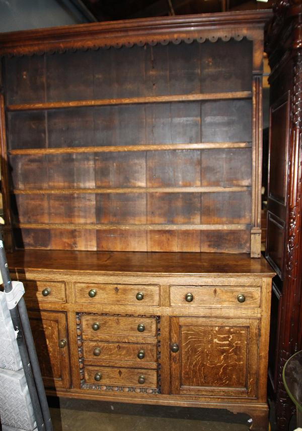 edwardian quartersawn oak hutch the superstructure fitted w
