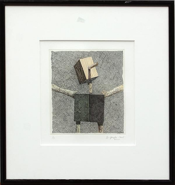 Etching, Gordon Cook, Head Torso Arms
