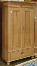 French Provincial style pine linen press
