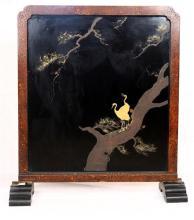 Japanese Tsuitate Screen, Cranes