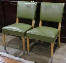 Pair of Stow & Davis teak Mid Century side chairs