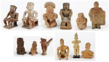 (lot of 12) Pre-Columbian and Pre-Columbian style figures