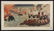 Japanese Woodblock Prints, Nobukazu, Meiji