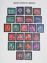 (lot of 100+) United States six Davo volume stamp collection, 1920-1990, nearly all mint never hinged in mounts, including singles,...