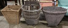 (lot of 3) Wine harvest baskets 19th century