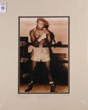 Boxing memorabilia relating to Sugar Ray Robinson