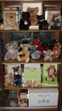 (lot of 22) Germain Steiff mohair and plush stuffed animal group, consisting of teddy bears, Beatrix Potter and Wind in the Willows ...