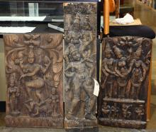 Indian Carved Wood Panels