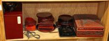 Shelf of Japanese Lacquer Ware