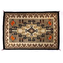 Navajo regional rug, with pictorial and Klagetoh elements, circa 1930, 4'3