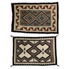 (lot of 2) Navajo regional rug group