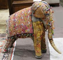Large vintage Rajasthan Indian elephant