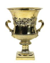 George III gilt sterling silver wine cooler, Dublin, Robert Williams, circa 1800, having a campana form, the wide flaring mouth abov...