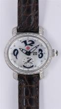 Michele diamond, stainless steel CSX Blue wristwatch