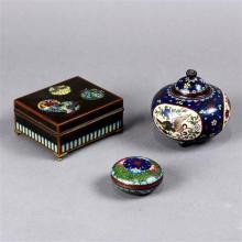 Three Japanese Cloisonne Items