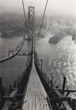 Photograph, Peter Stackpole, Building the Bay Bridge, in the San Francisco Fog