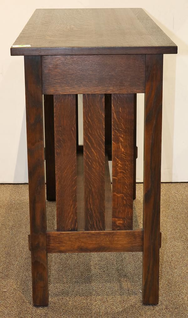 Warren hile arts and crafts style oak console table for Arts and crafts sofa table