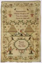 (Lot of 3) British silk on wool canvas samplers, 18th/19th Century, consisting of an example signed