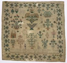 (Lot of 3) British silk on wool canvas samplers, including an example dated March 29th, 1803, and signed