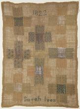 British silk wool on canvas sampler group