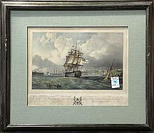 Print, Louis Haghe, British Ship