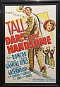 Lithographic movie poster,
