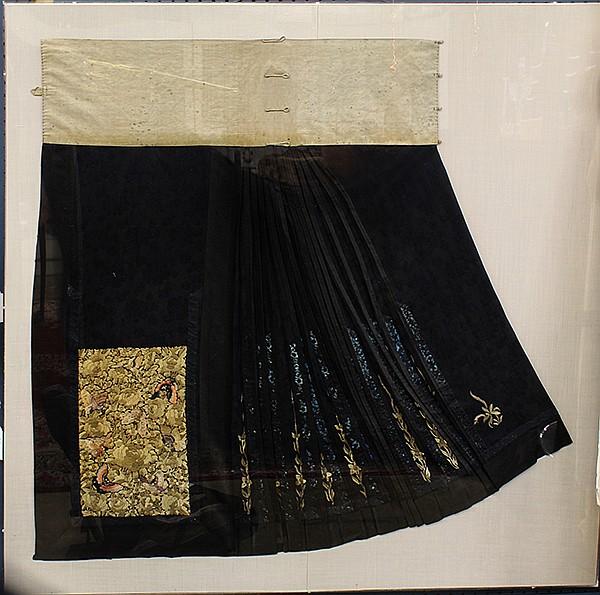 Chinese Woman's Skirt Panel