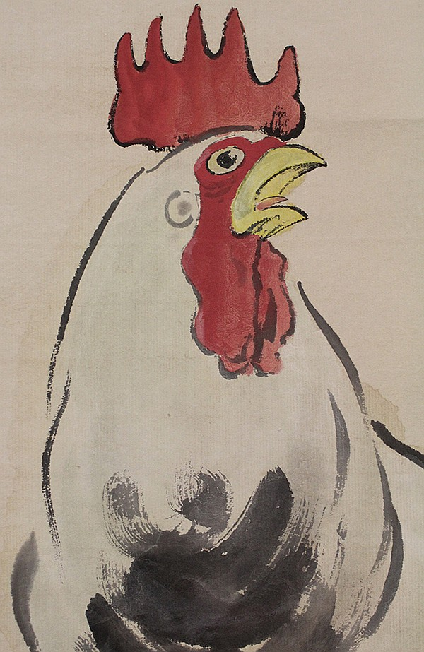 Chinese Scroll, Xu Beihong (after), Rooster