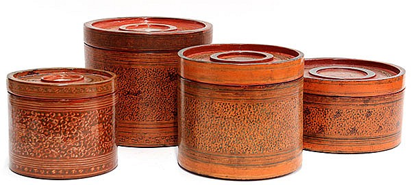 Burmese Lacquered Boxes