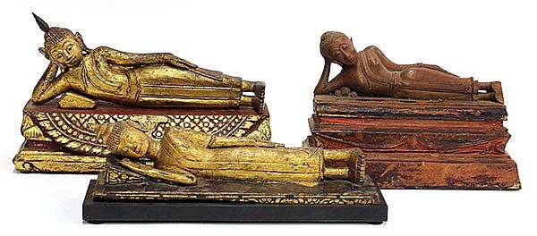 Three Thai Wooden Buddha, Parinirvana
