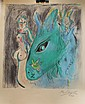 Lithograph with oil, Manner of Marc Chagall