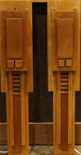 A Pair of Arts and Crafts style wall sconces attributed to Berkeley Mills in the Prarie taste