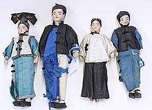 Four Chinese Cloth Dolls