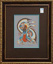 Print, Woody W. Crumbo, Eagle Dancer