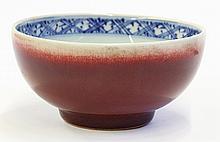 Chinese Ox-blood Glazed Bowl
