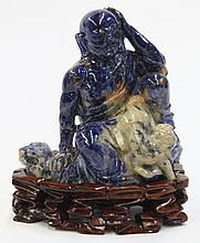 Chinese Lapis Lazuli Hardstone Luohan