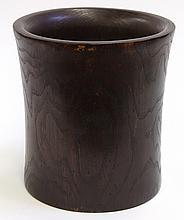 Chinese Large Wood Brush Pot
