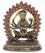 Himalayan Bronze Buddhist Wrathful Deity