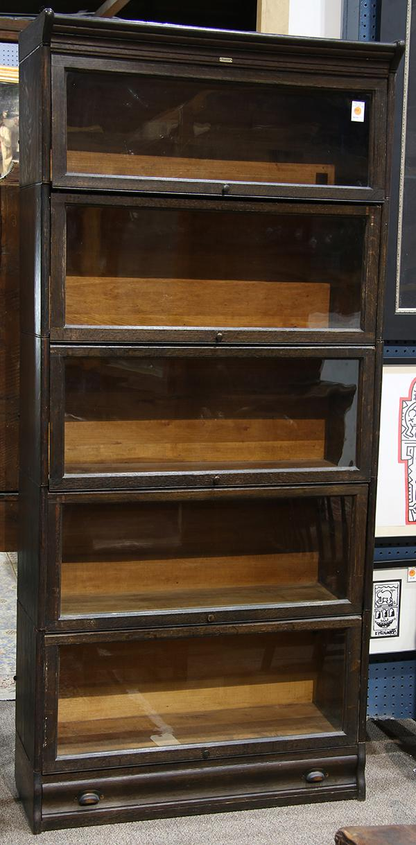 Lundstrom Barrister Bookcase Circa 1915 The Six Hinged Gla