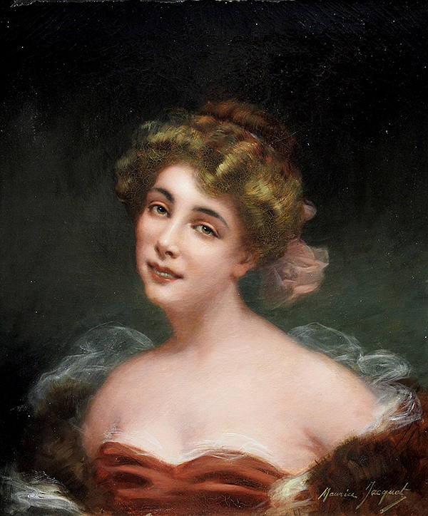 Painting, Maurice Jacquet, Portrait of an Actress, oil on canvas