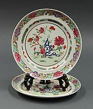 Two Chinese Porcelain Plates, Peonies
