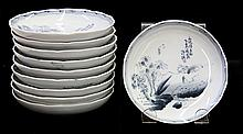 Japanese Blue and White Porcelain Dishes