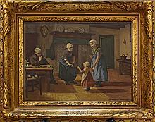 Dutch porcelain plaque by Rozenburg, entitled