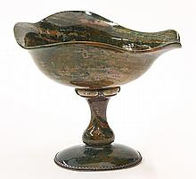 Faberge style carved jasper and diamond accented compote