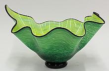 Abstract art glass center bowl