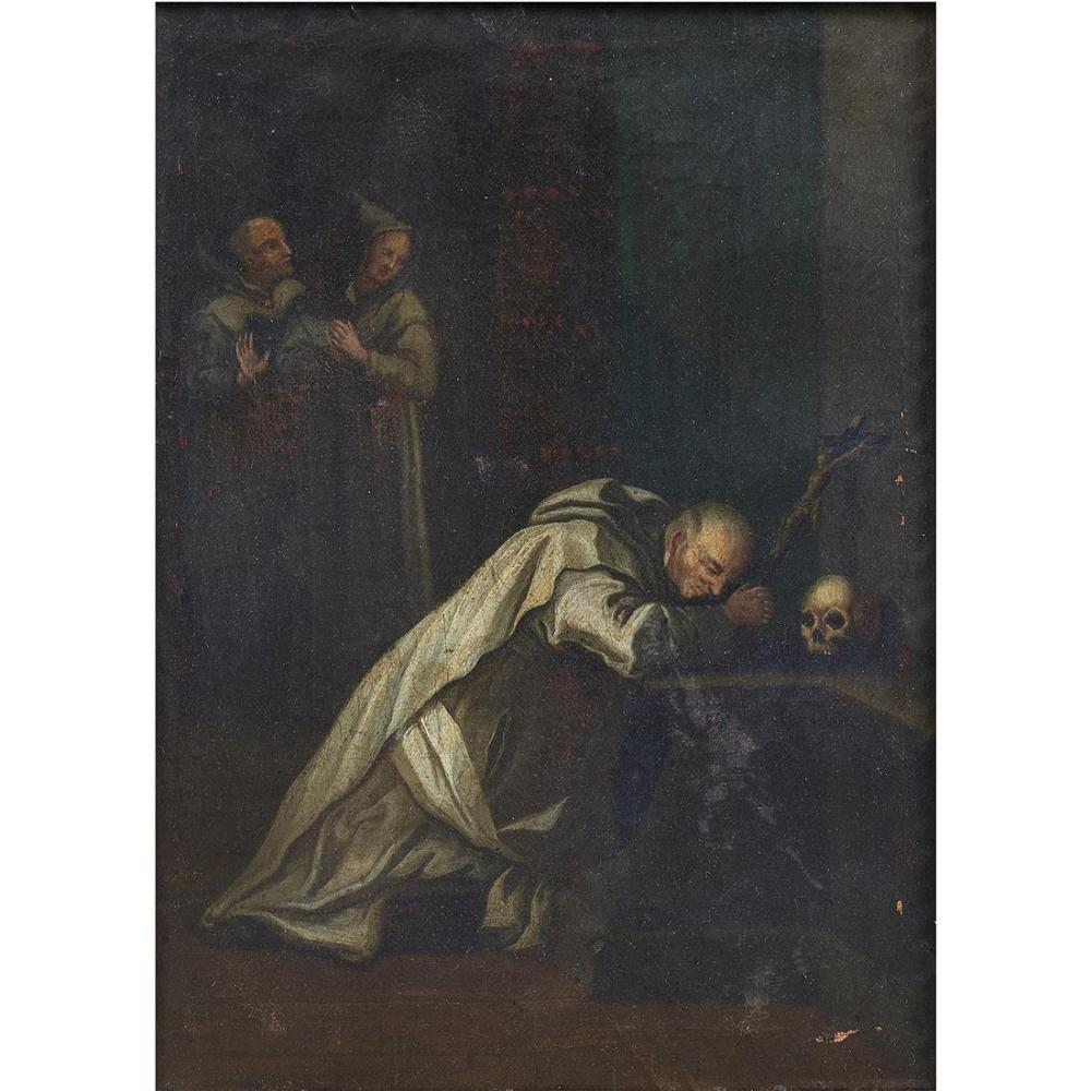 Painting, Saint Francis before Cross and Skull