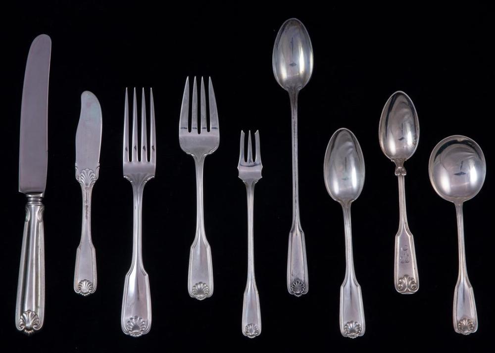 A (lot of 93) Towle Benjamin Franklin sterling flatware service