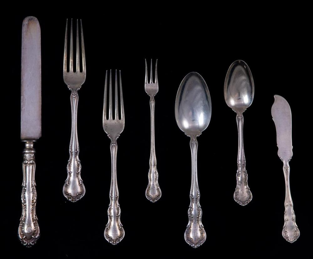 A (lot of 93) Wallace Irving sterling flatware service